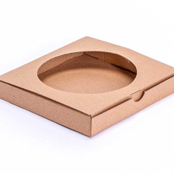 Štanc. kutija s prozorom 160x155x25 mm